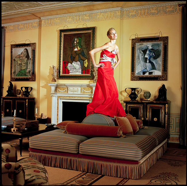 Lauren Santo Domingo at home, Park Avenue, 2005 | Vogue